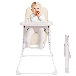 FUNNY SUPPLY Folding Baby High Chair