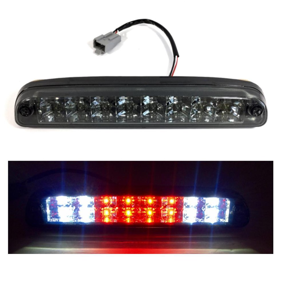 Black Friday VIOJI 1pc Chrome Housing + Smoke Lens LED Two Row 3rd Brake Light For 99-16 Ford F-250/F-350/F-450/F-550 Super Duty Cargo Light & 93-11 Ford Ranger Cargo Light