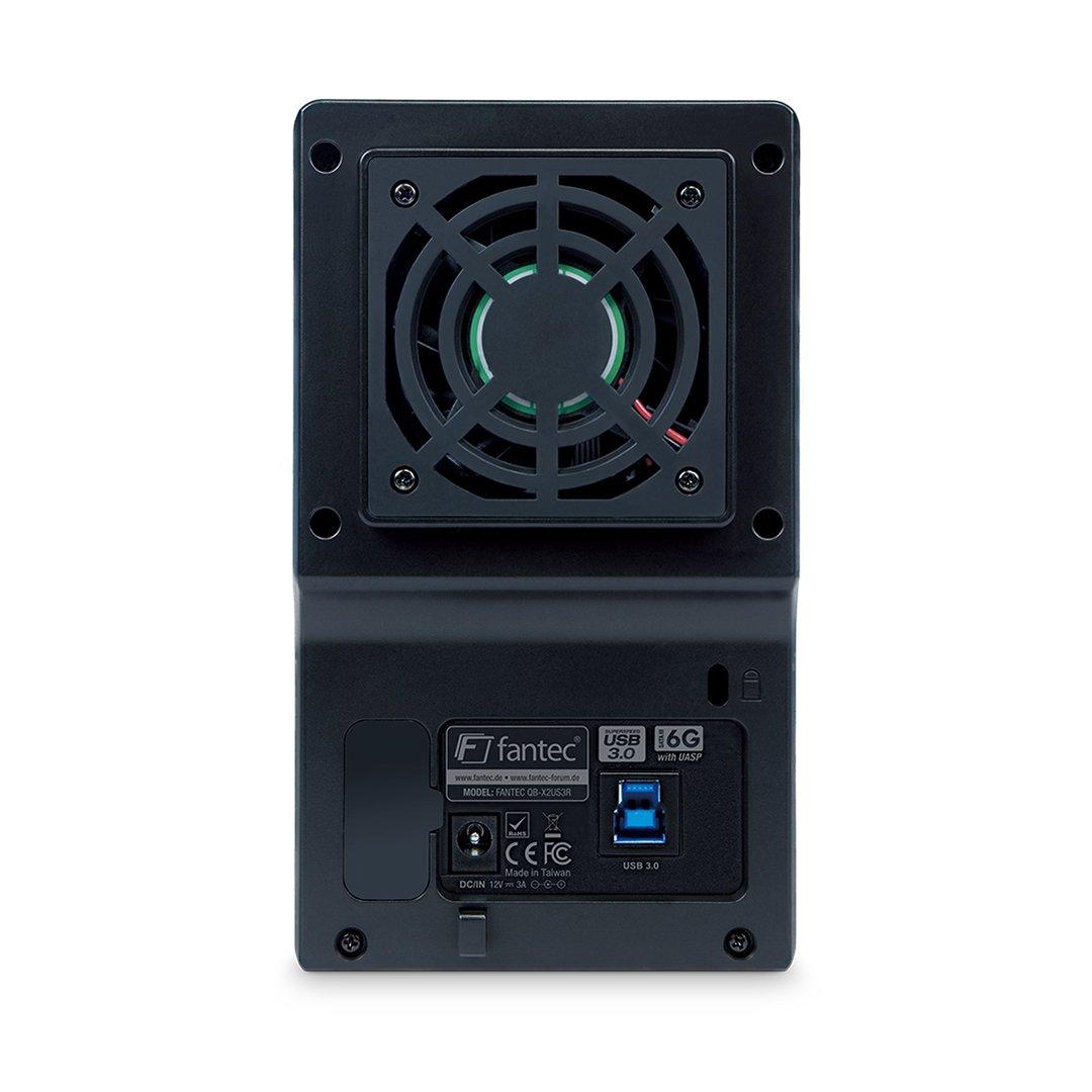 negro 3,5 ventilador de 60mm FANTEC QB-X2US3R USB 3.0 carcasa ...