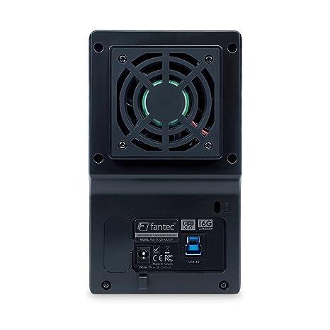 FANTEC QB-X2US3R - carcasa externa para el montaje de 2 discos duros de 8,89 cm (3,5) SATA I/II/III, USB 3.0, función RAID , ventilador de 60mm, ...