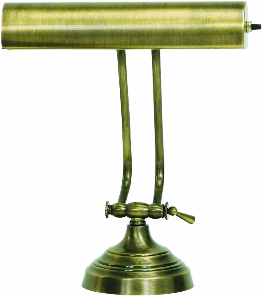 B0007OYU1O House Of Troy AP10-21-71 Advent Collection 10-1/2-Inch Adjustable Piano/Desk Portable Lamp, Antique Brass 61S3aNhuwFL