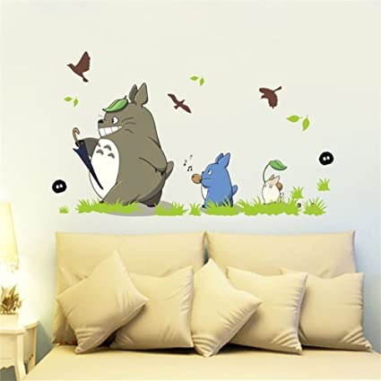Amazon.com: Jiquan My Neighbor Totoro Wall Decals Stickers ...
