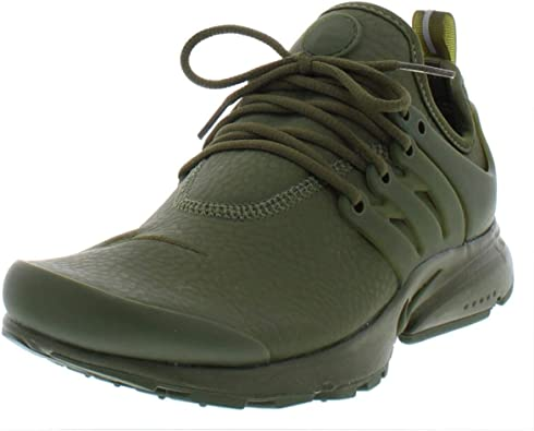 Nike Womens Air Presto PRM Leather Workout Running Shoes Green 6 Medium (B,M)