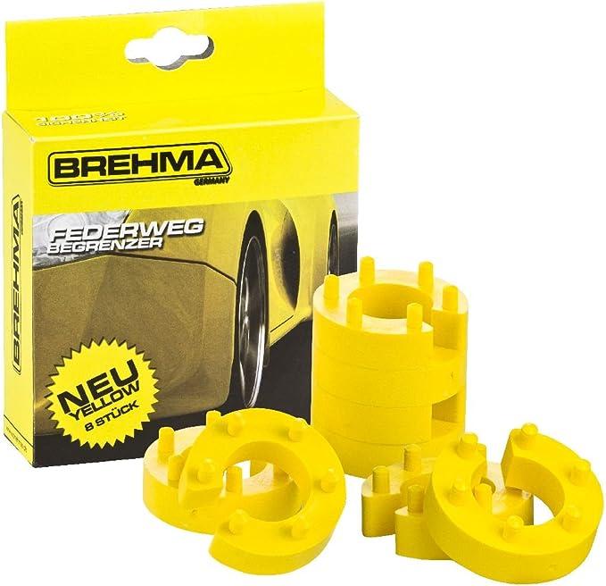Brehma Federwegbegrenzer Yellow Stick 22mm 8er Set Universell Mit 6 Fach Positionierung Federwegsbegrenzer Auto