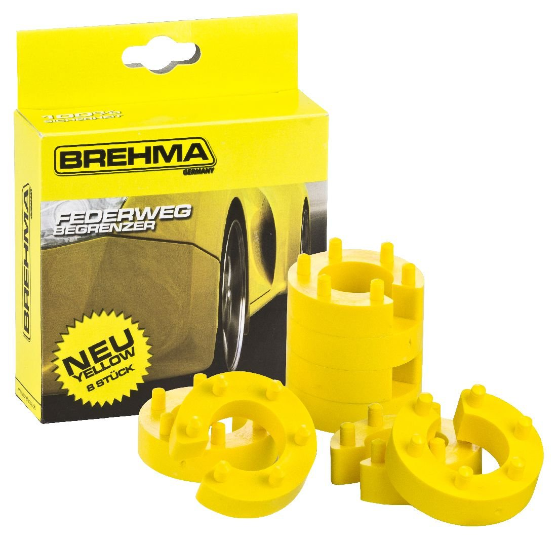 BREHMA Federwegbegrenzer Yellow Stick 16mm 8er Set universell Mit 6- fach Positionierung Federwegsbegrenzer