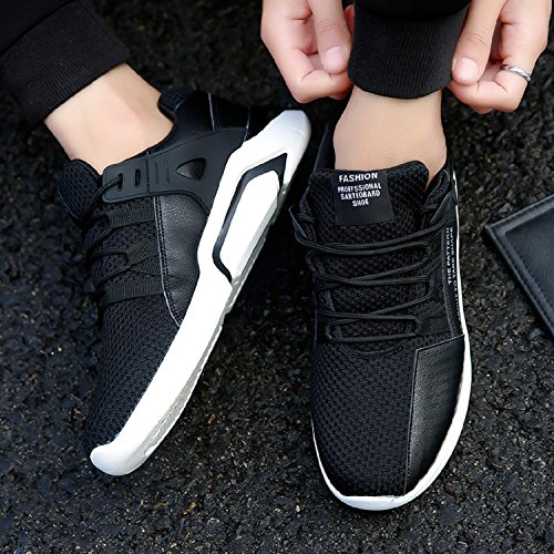 tqgold Running Shoes Go Walk Lightweight Sports Trainers Gym Walking Trainers Casual Sneakers Fitness for Men/Women(9 UK,Black)