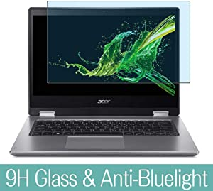 "Synvy Anti Blue Light Tempered Glass Screen Protector for Acer Spin 3 SP314-53 / SP314-53N / SP314-53GN 14"" Visible Area 9H Protective Screen Film Protectors (Not Full Coverage)"