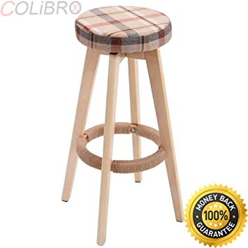 Astonishing Amazon Com Colibrox Set Of 2 29 Inch Winsome Round Wood Bar Squirreltailoven Fun Painted Chair Ideas Images Squirreltailovenorg