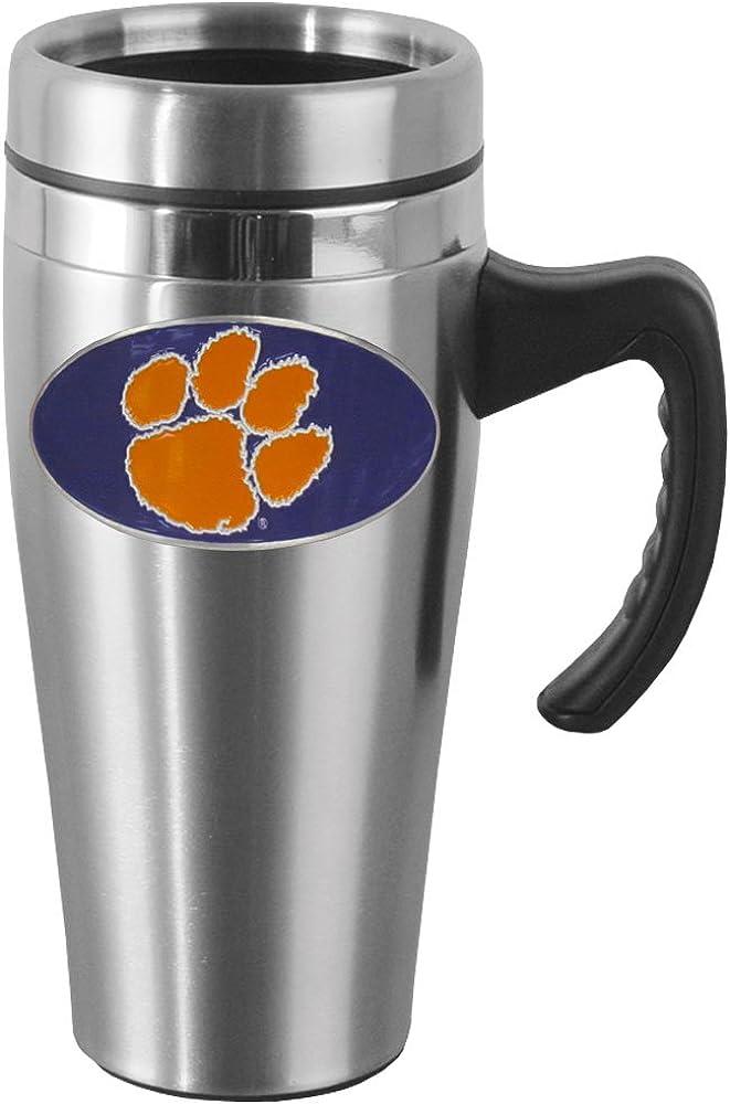 Siskiyou NCAA Steel Travel Mug with Handle