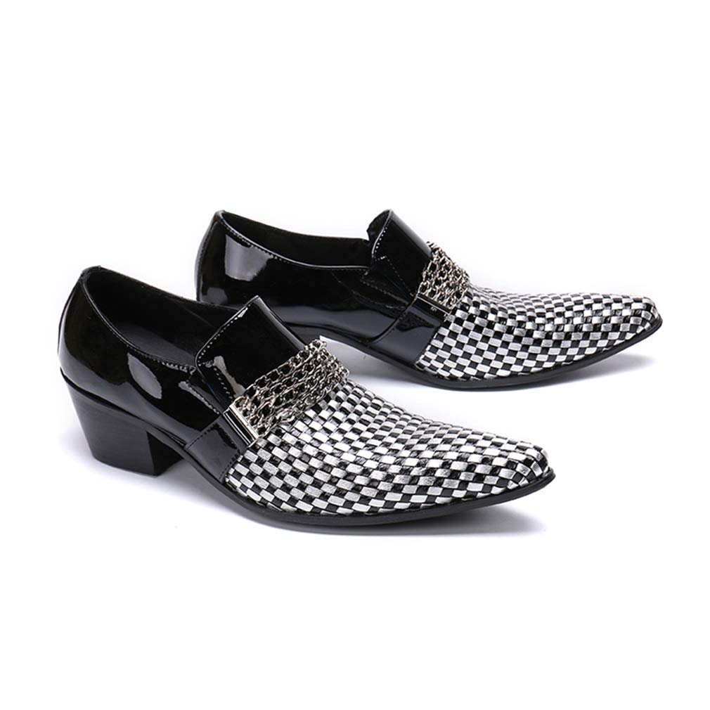 Top Business Shoes Formal Shoes for Wedding Party /& Evening YAN Color : A, Size : 37 Mens Leather Shoes Fashion Pointed Dress Shoes Low