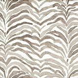 Serengeti Bisque Gray Animal Print 75 x 84 inch Cotton Shower Curtain, Unlined