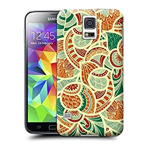 Unique Phone Case Flowers Painting Hard Cover for samsung galaxy s5 cases-buythecase