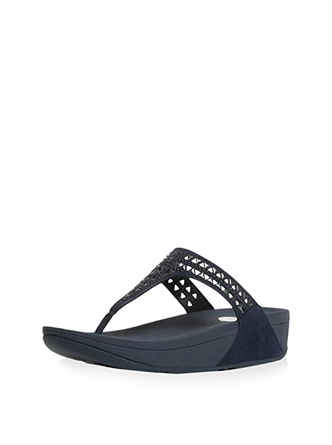 7408a896b6ff Fit Flop FitFlop Woman Ciabatta 671-097 Carmel Navy Size 40 Blue  Buy  Online at Low Prices in India - Amazon.in
