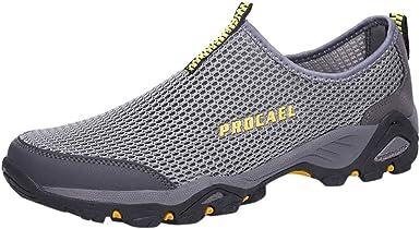 Zapatillas Deporte Zapatos De Entrenamiento para Hombre Adulto Malla Transpirable Zapatillas- Zapatillas De Deporte/Zapatos del Ocio- Peso Ligero Running Jorich (Gris, EU:44 27cm/10.6