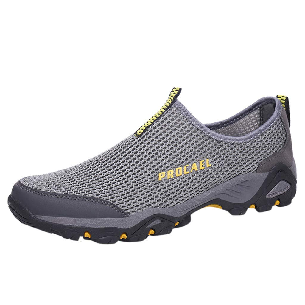 Hiking Shoes Men Lightweight Hollow Mesh Hiking Shoes Non-Slip Climbing Shoes Breathable Sneakers Shoes