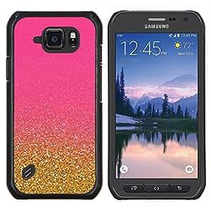 TECHCASE---Cubierta de la caja de protección para la piel dura ** Samsung Galaxy S6 Active G890A ** --Bling del oro de la chispa de Granos