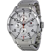 Tommy Hilfiger Men's White Dial Stainless Steel Band Watch - 1791140