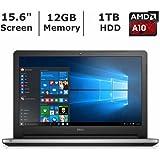 """2016 Dell Inspiron 15.6"""" High Performance Laptop PC, AMD A10-8700P Processor, 12GB RAM, 1TB HDD, DVD+/-RW, Webcam, WIFI, HDMI"""
