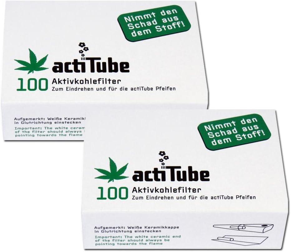 Filtro de carbón activo actiTube, 2 paquetes de 100 unidades