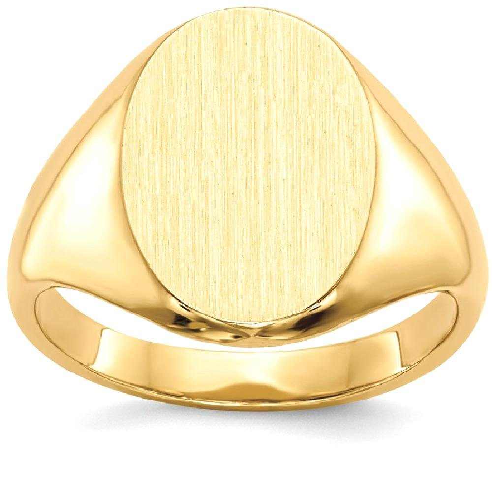 ICE CARATS 14k Yellow Gold Signet Band Ring Size 4.50 Fine Jewelry Gift Set For Women Heart