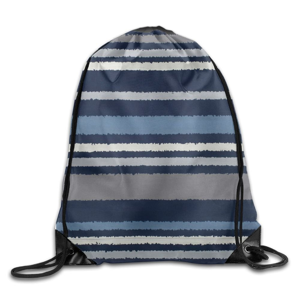 Drawstring Backpack Stripes Rucksack