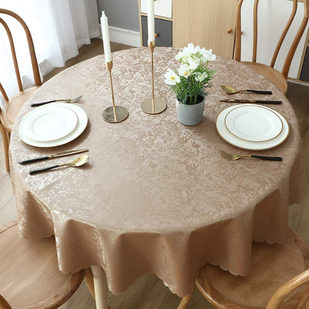YuHengJin Mantel Lavable Rectangular Resistente Al Agua Ligero Fácil de Limpiar para Jardín Habitaciones Decoración de Mesa Rosa Marrón 120cm de Diámetro