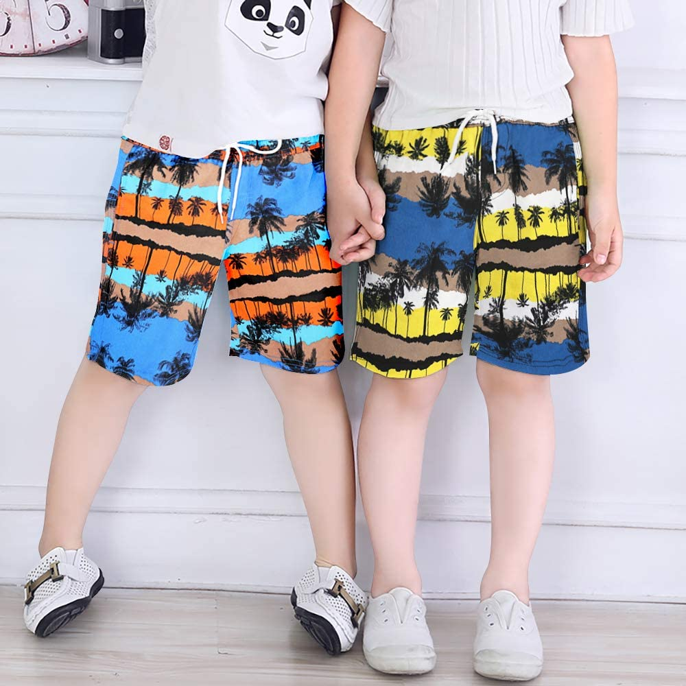 3-14 Years Quick Dry Beach Swim Shorts Little Boys Bathing Suit Swimsuit with Mesh Lining Boys Swim Trunks