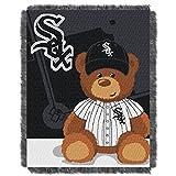White Sox OFFICIAL Major League Baseball, Field Bear Baby 36 x 46 Triple Woven Jacquard Throw