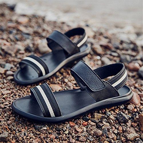 Spiaggia Sandali Sportivi Nero A Estive Nero Uomo Sandali Aperta di Pantofole Toptak Punta TxAaYw7