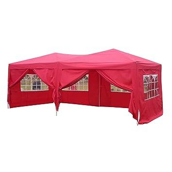 Party und auch Trödelmärkt Pavillon 3 x 6 m mit 6 Seitenteilen ideal für Garten