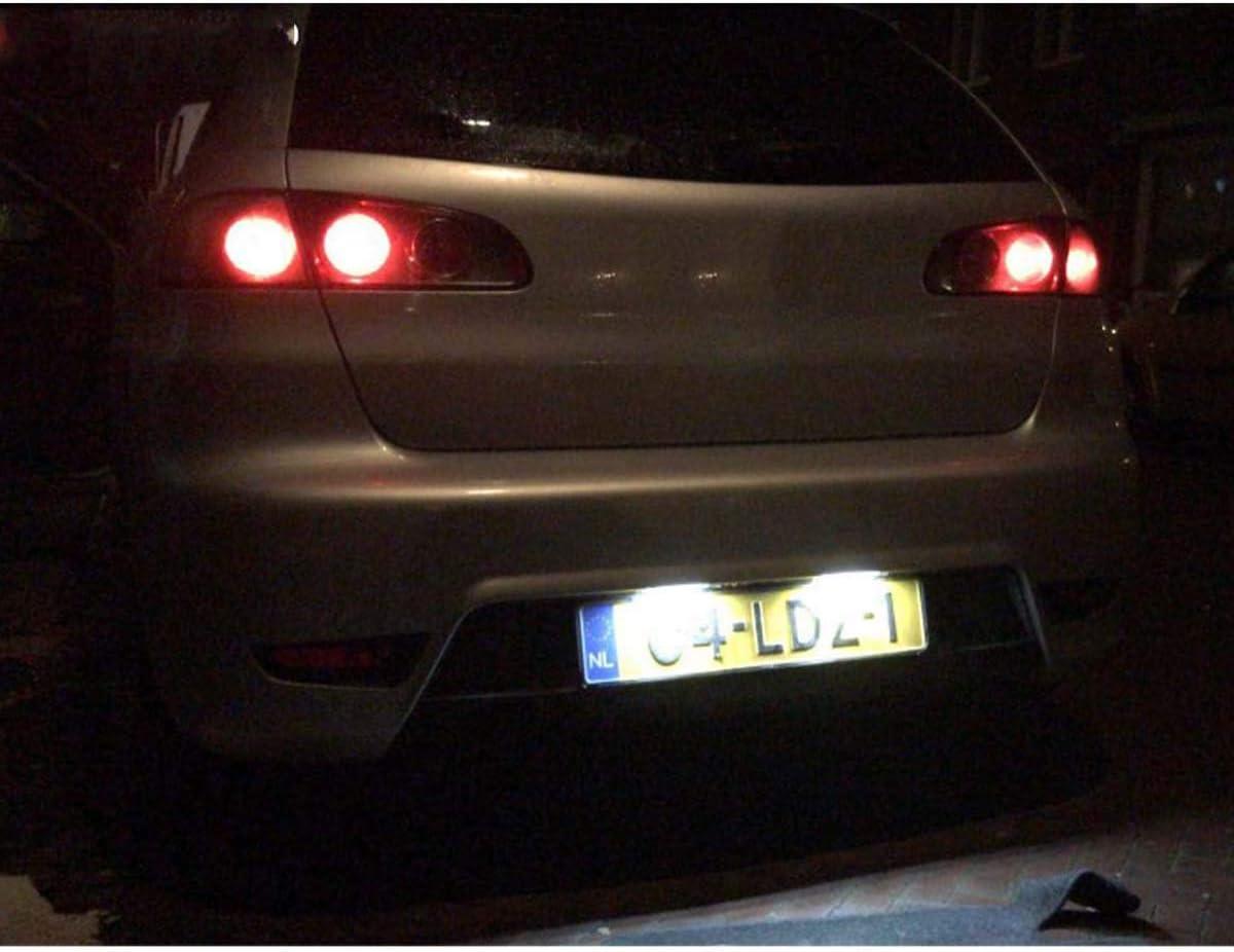 GOFORJUMP Luz de matrícula LED Super Brillante 2X18SMD Canbus para ...