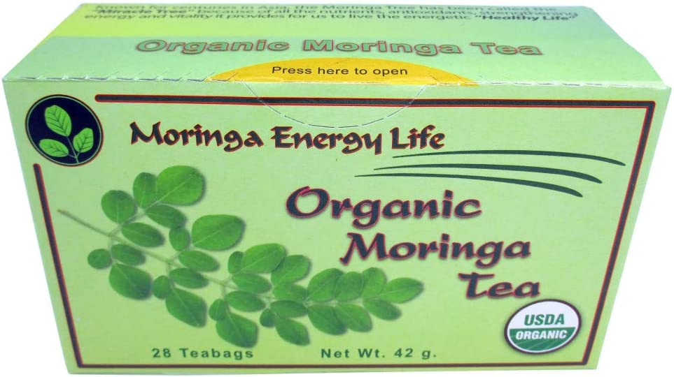Moringa Energy Tea Organic - Nature's #1 Immunity Booster The Most Potent Botanical for Nutrients, Vitamins & Minerals! Boost Your Energy and Wellness with This Moringa Tea
