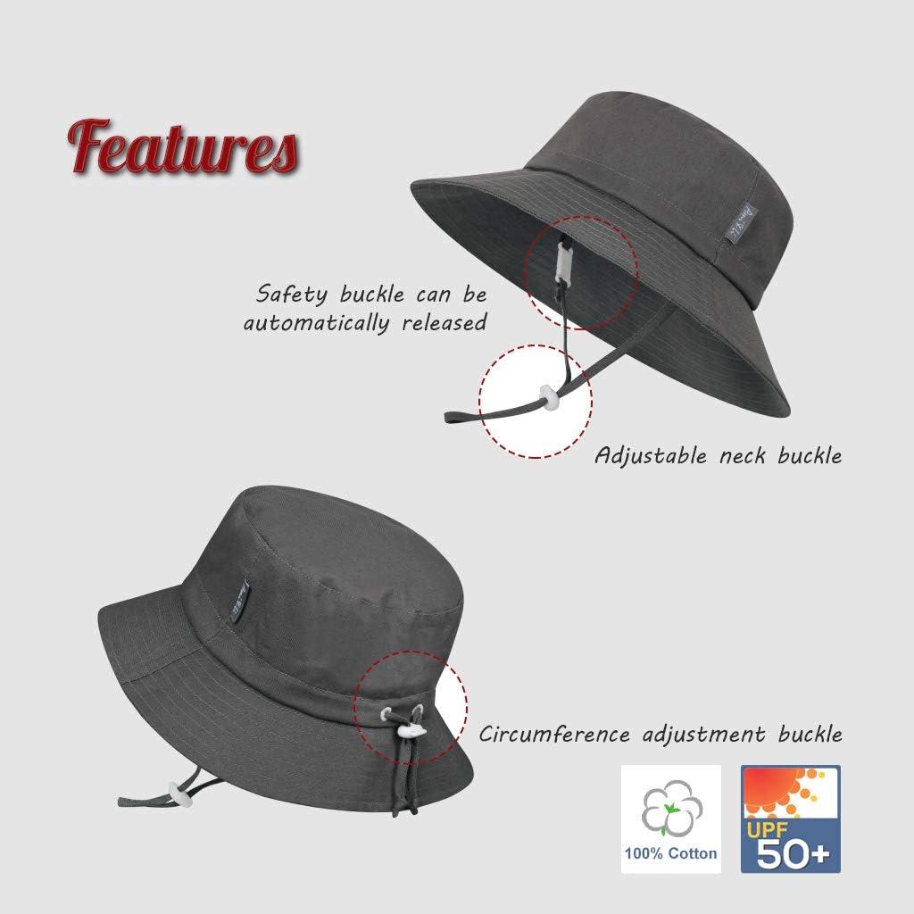 Ami/&Li tots Adjustable Sunscreen Bucket Sun Protection Summer Hat for Baby Girl Boy Infant Kid Toddler Child UPF 50