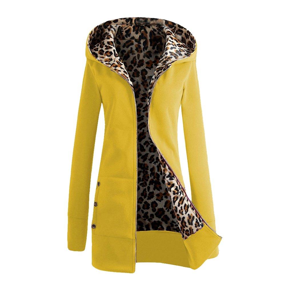 9fd7ba0b9 Jitong Mujer Sudaderas con Capucha Leopardo Chaquetas Manga Larga Abrigos  Coat Outwear  Amazon.es  Ropa y accesorios