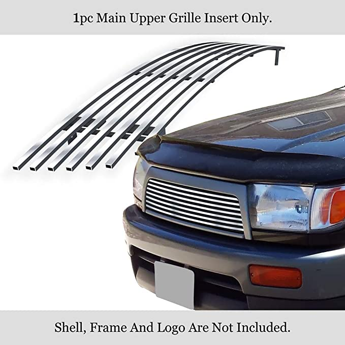 APS Compatible with 08-12 2012 Chevy Malibu Black Stainless Steel Billet Grille Grill Combo N19-J51016C