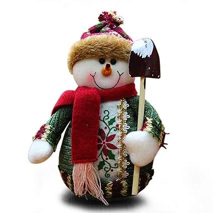 Adornos navide/ños de pie terciopelo santa claus