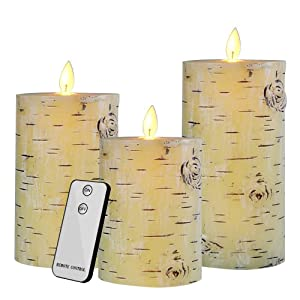 Flameless Led Candles Flickering with Timer Remote Glass Effect