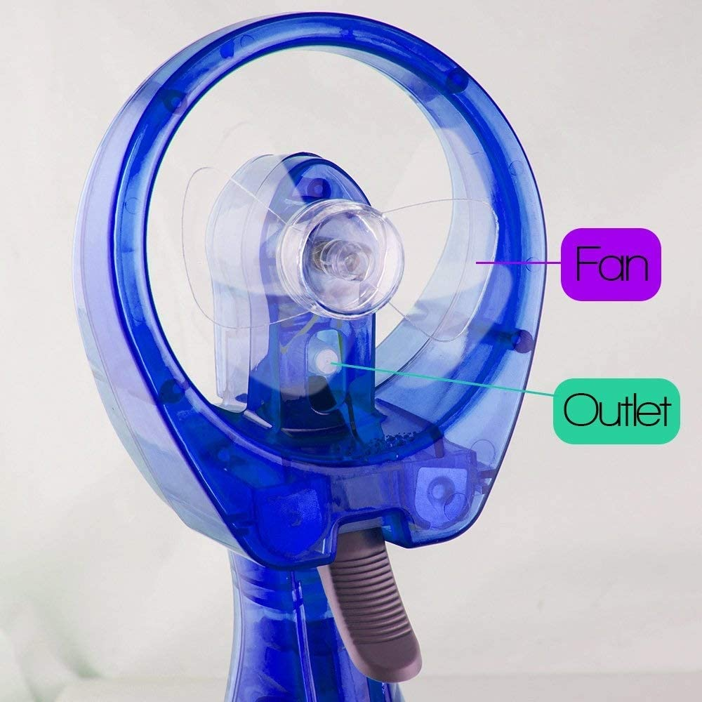 XiaoZou Handheld Fan Small Portable USB Fan Portable Mini Handheld Fan Mini Fan Water Humidifier Cooling Suitable for Sightseeing