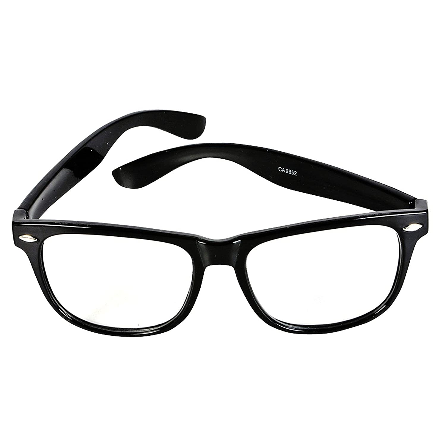 85dceb657a2 Amazon.com  Rhode Island Novelties Mens Nerdy Glasses Black One Size   Clothing
