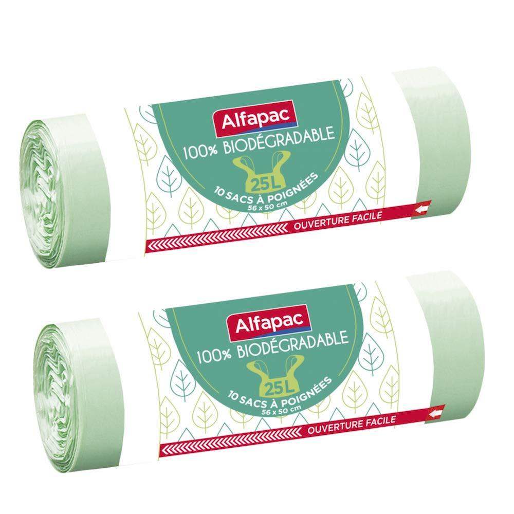 Alfapac - Lote de 2 bolsas con asas (56 x 50 cm, 25 L ...
