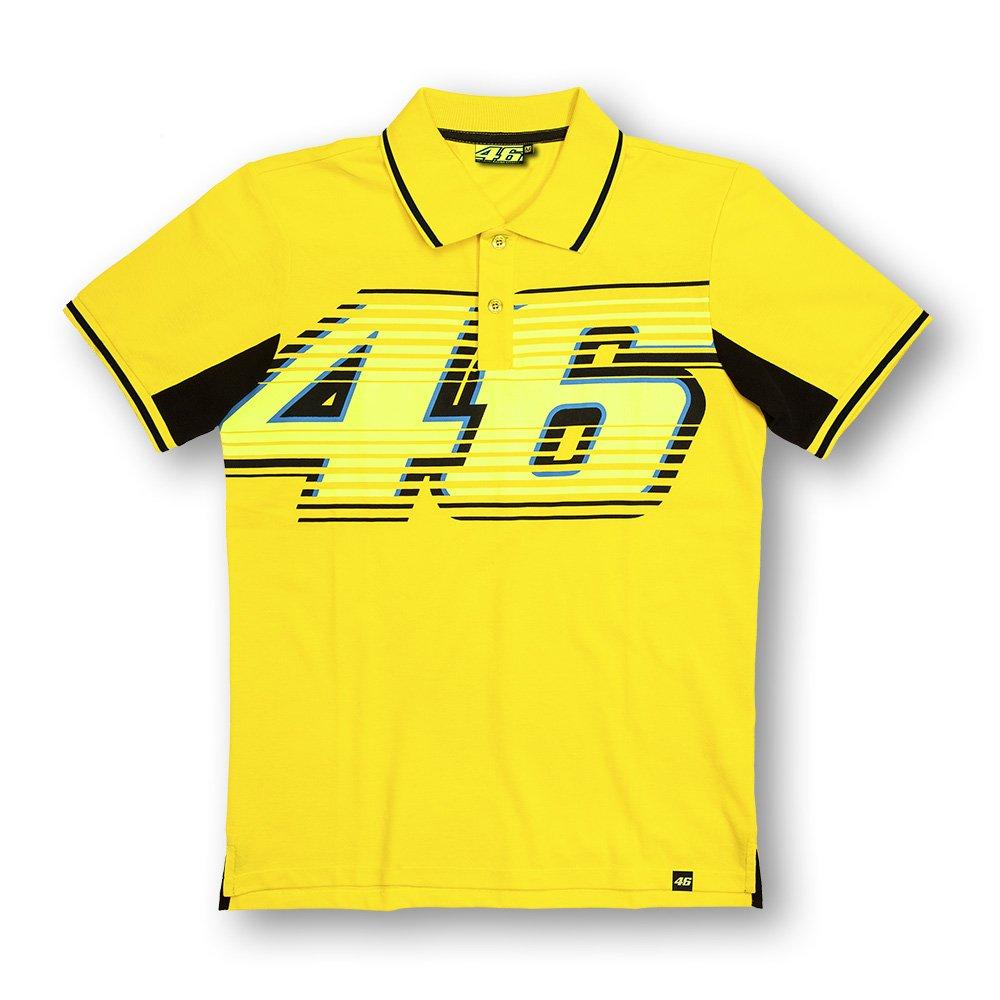 Yamaha Valentino Rossi VR46 short-sleeved polo shirt yellow & amp; Black 46BIG logo size XLARGE (Europe)