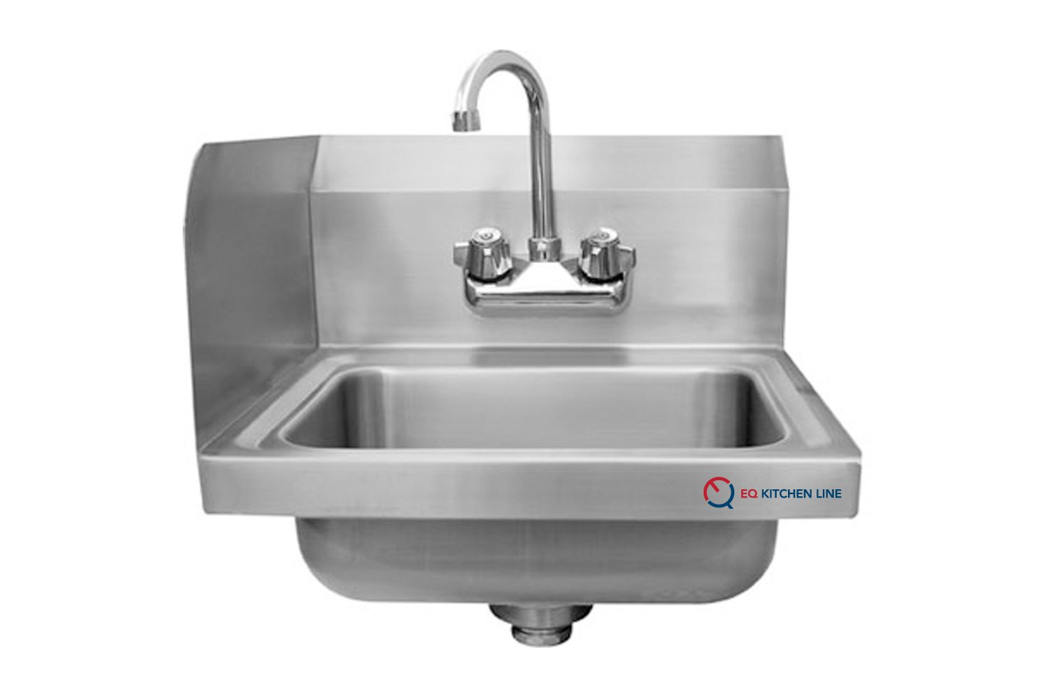 EQ Kitchen Line Stainless Steel Commercial Compartment Sink, 15.75''L x 15.00''W x 13.00''H