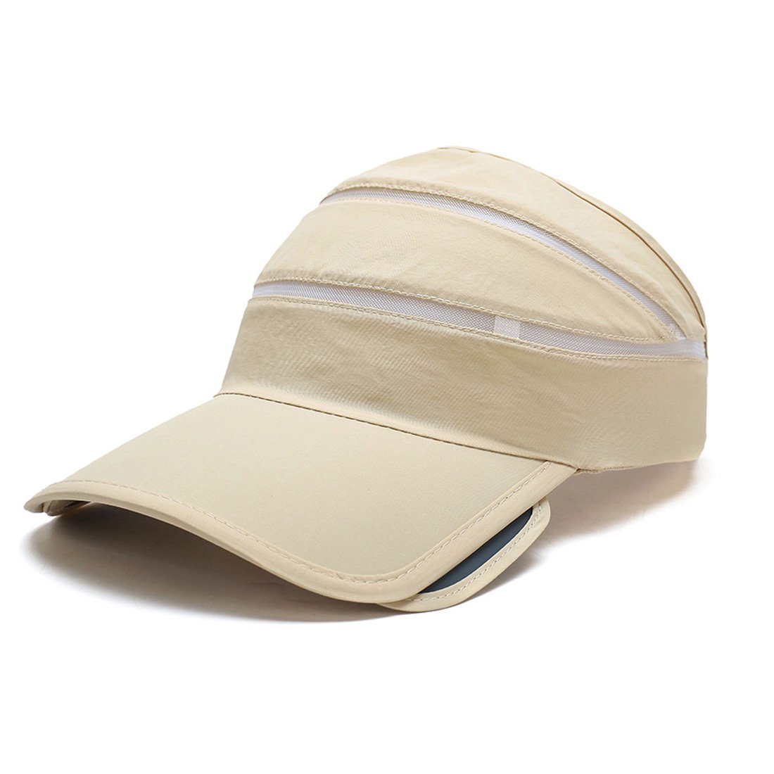 King Star Adjustable Sports Visor Hats Sun Visors Cap for Men Women Beige