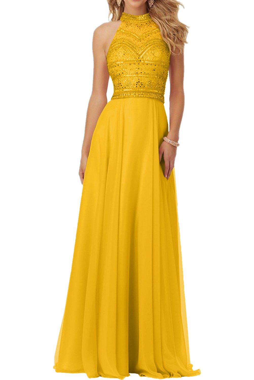 La_Marie Braut Rosa Chiffon Steine Damen Abendkleider Partykleider ...