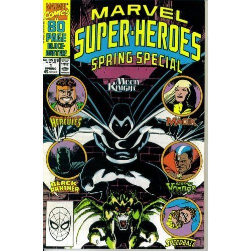 - Marvel Super Heroes Spring Special #1 : Featuring Moon Knight, Hercules, Magik, Brother Voodoo, Speedball, & Black Panther (Marvel Comics) (Spring Special)