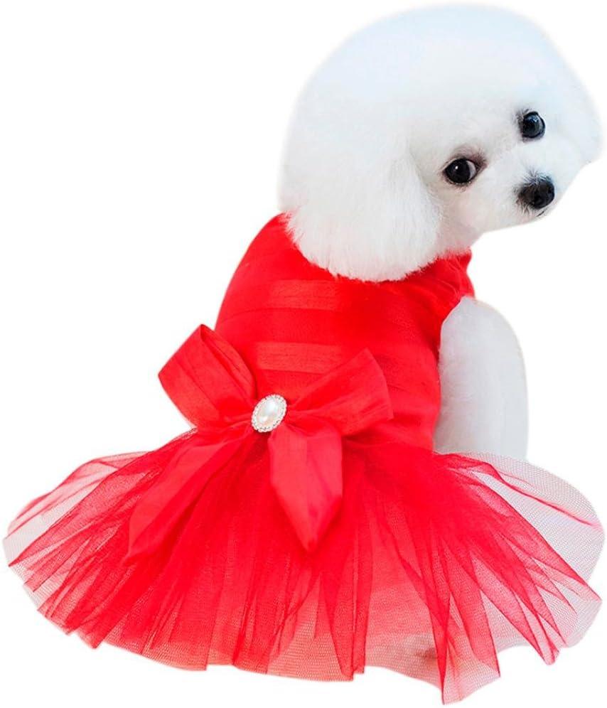 SunGren Vestido de perro pequeño, vestido de burbuja de perro de ...