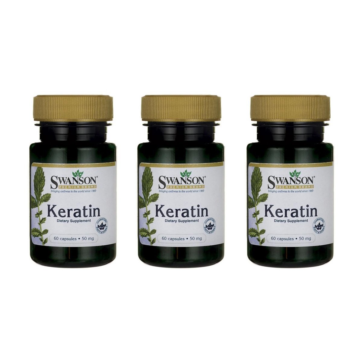 Swanson Keratin 50 mg 60 Caps 3 Pack