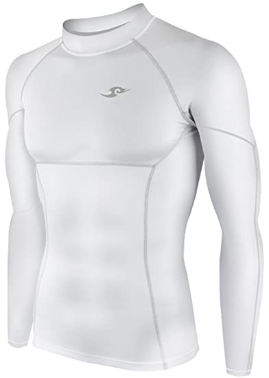 4c46f129584 New 009 Take Five Skin Tight Compression Base Layer White Running Shirt  Mens S - Xl