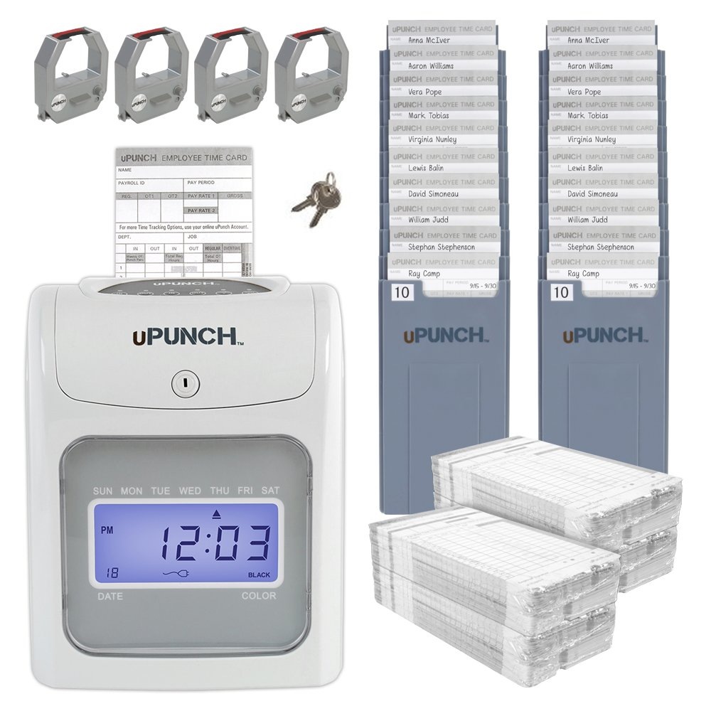 uPunch Small Business AutoAlign Calculating Time Clock Start-Up Kit (HN4540)