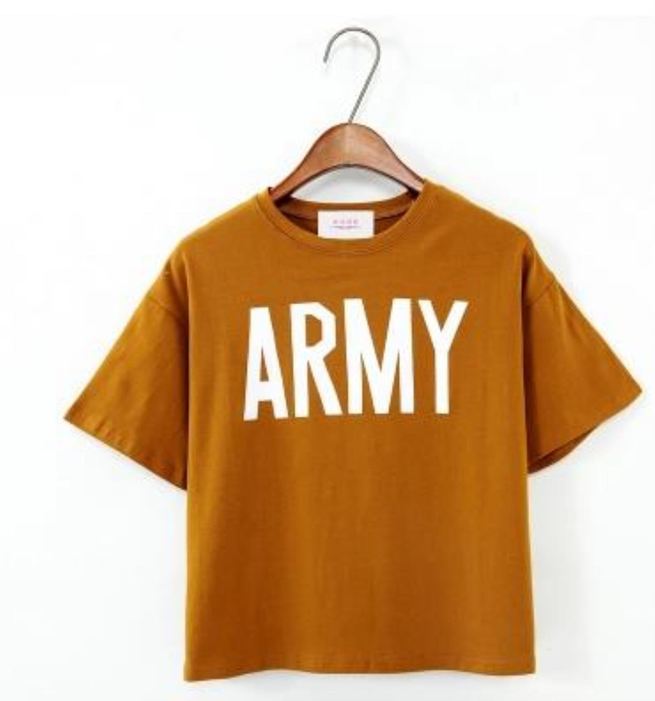 Merry Pretty Women Tshirt Summer Style Army Green T Shirts Harajuku Loose Casual Tops